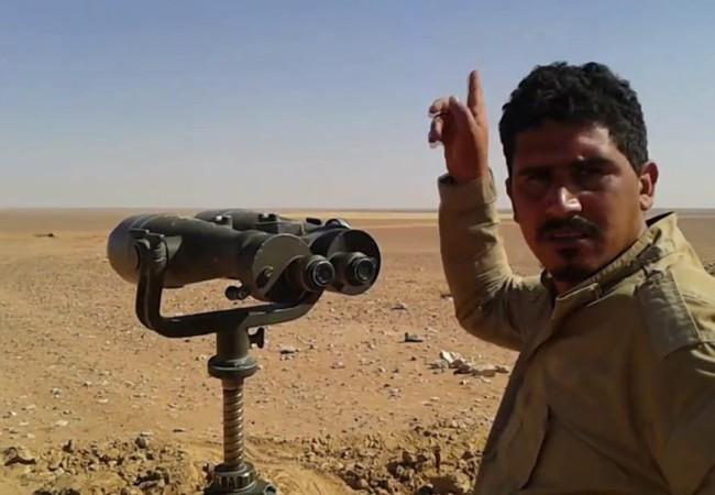 Binh sĩ quân đội Syria trên vùng sa mạc phía đông Damascus