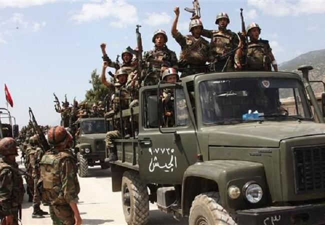Binh sĩ quân đội Syria tiến về sa mạc tỉnh Homs