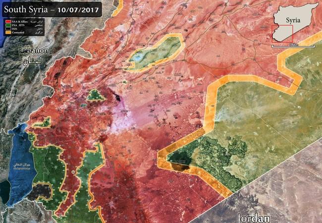 Toàn cảnh chiến trường tỉnh Sweida, quân đội Syria chuẩn bị khép chặt vòng vây lực lượng phiến quân do Mỹ hậu thuẫn