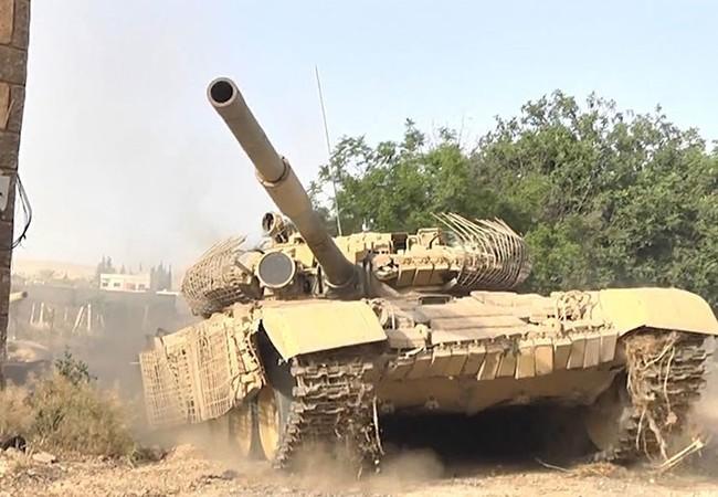 Xe tăng T-72 quân đội Syria trên chiến trường