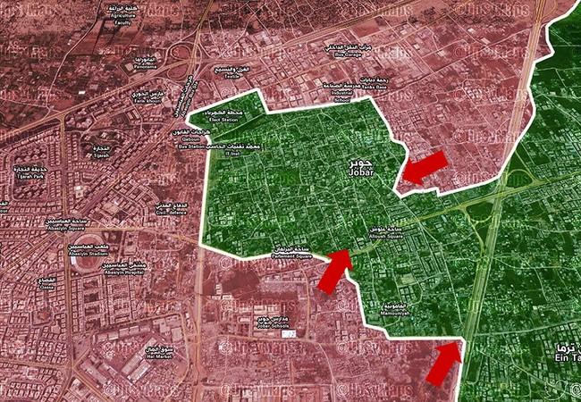 Chiến trường Jobar, các mũi tiến công của quân đội Syria
