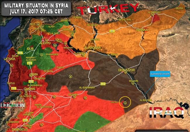Toàn cảnh chiến trường Syria ngày 17.07.2017