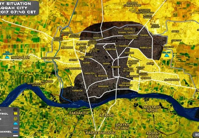 Tình hình chiến sự thành phố Raqqa tính đến ngày 17.07.2017