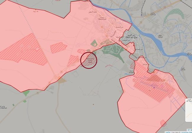 Bản đồ chiến sự chiến trường thành phố bị bao vây Deir Ezzor