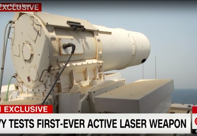 Vũ khí laser thử nghiệm trên tàu đổ bộ USS Ponce