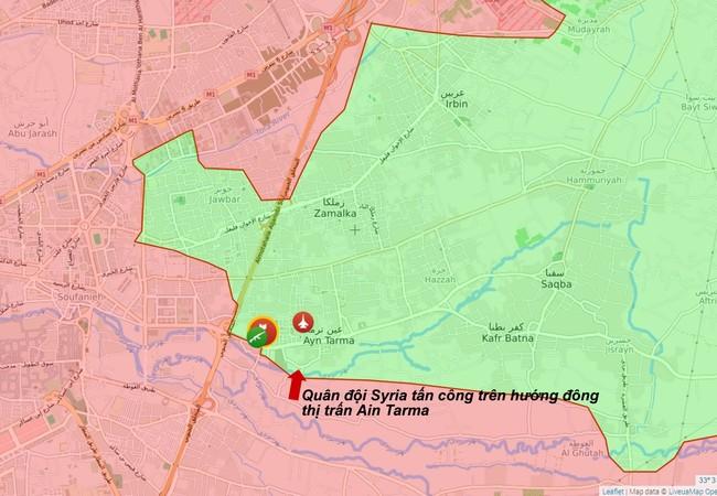 Quân đội Syria tiến công trên hướng đông thị trấn Ayn Tarma