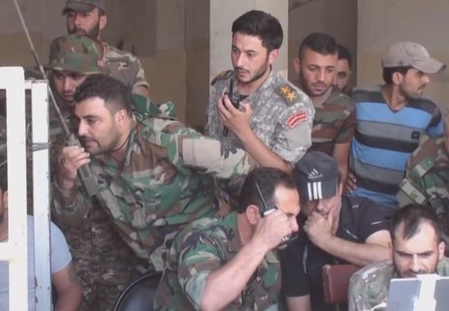 Sở chỉ huy tiền phương của Vệ binh Cộng hòa trên chiến trường ngoại ô phía đông Damascus