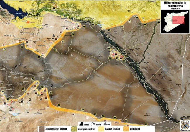 Bản đồ chiến tuyến tỉnh Homs trong cuộc chiến chống IS