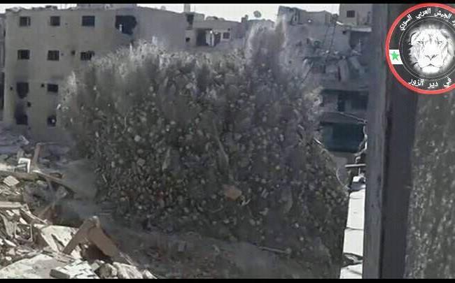 Vụ nổ hủy diệt trung tâm chỉ huy, điều hành chiến đấu của IS ở Deir Ezzor