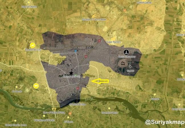Bản đồ chiến sự thành phố Raqqa tính đến ngày 30.07.2017