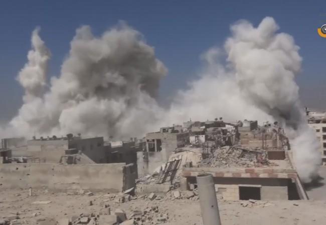 Lữ đoàn cơ giới số 42 pháo kích kinh hoàng khu vực Ayn Tarma, Jobar bằng tên lửa Elephant