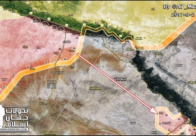 Lực lượng Tiger còn cách thành phố Deir Ezzor khoảng 60 km