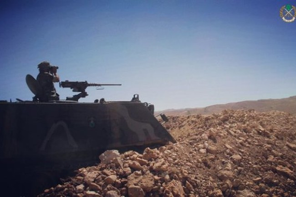 Binh sĩ Lebanon trên tuyến biên giới Lebanon - Syria, nhiều năm trước đây là khu vực kiểm soát của khủng bố quốc tế Al-Qaeda Syria và IS