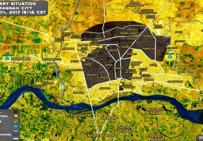 Lực lượng Dân chủ Syria SDF đã chiếm được đến 50% diện tích thành phố Raqqa