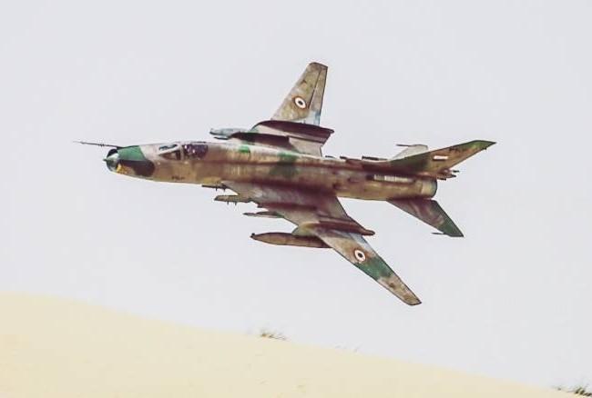 Cường kích Su-22 Syria không kích (ảnh minh họa) -Ảnh Masdar News