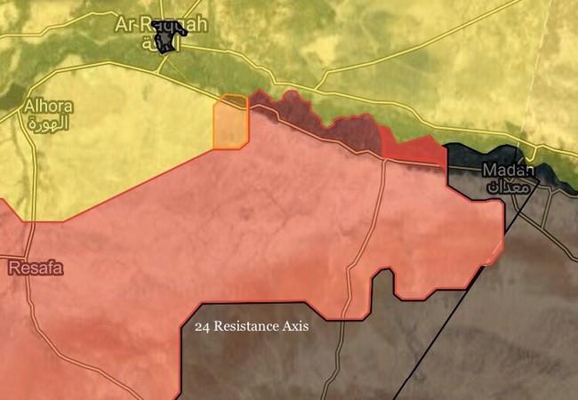 Khu vực lực lượng Tiger giải phóng trên vùng nông thôn tỉnh Raqqa