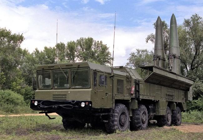 Tổ hợp tên lửa hành trình chiến thuật Iskander -M, có thể mang đầu đạn hạt nhân