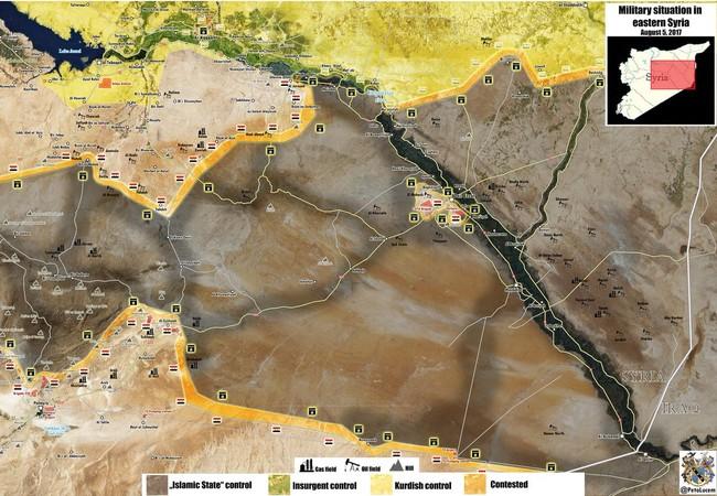Chiến trường khu vực Al-Sukhnah, vùng sa mạc tỉnh Homs - bản đồ tổng quan tình hình chiến sự tỉnh Homs quân đội Syria