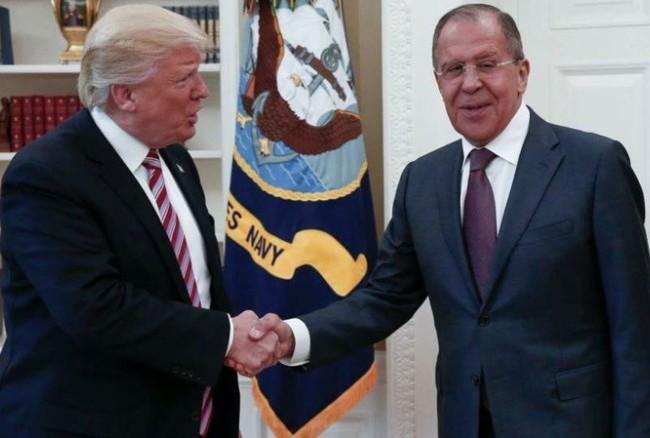 Tổng thống Trump tiếp Ngoại trưởng Nga Lavrov tại Nhà Trắng ngày 10/5