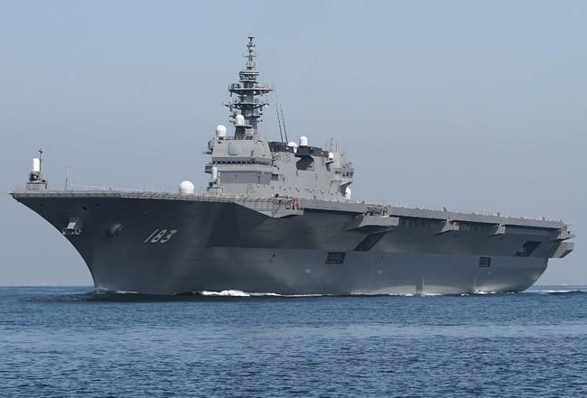 Tàu JS Izumo, niềm kiêu hãnh của Lực lượng Phòng vệ trên Biển của Nhật Bản (JMSDF). (Nguồn: i.imgur.com)