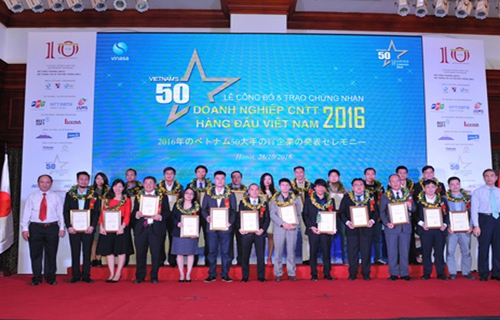 Lễ công bố 50 doanh nghiệp CNTT hàng đầu Việt Nam 2016.