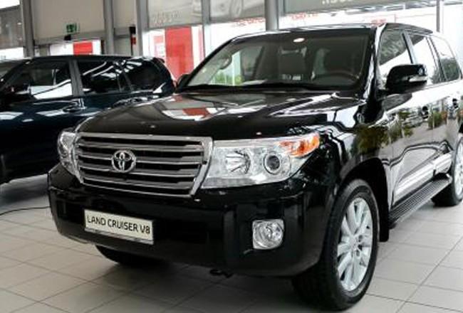 Chiếc xe Land Cruiser UBND tỉnh Ninh Bình được doanh nghiệp tặng (ảnh minh họa)