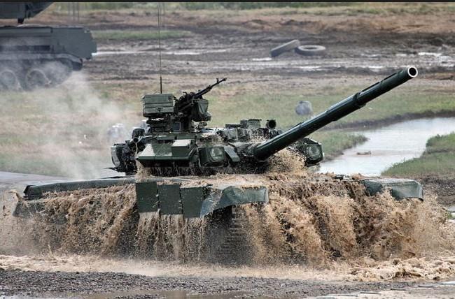 Xe tăng chiến đấu T-90 của Quân đội Nga. Ảnh: Sina