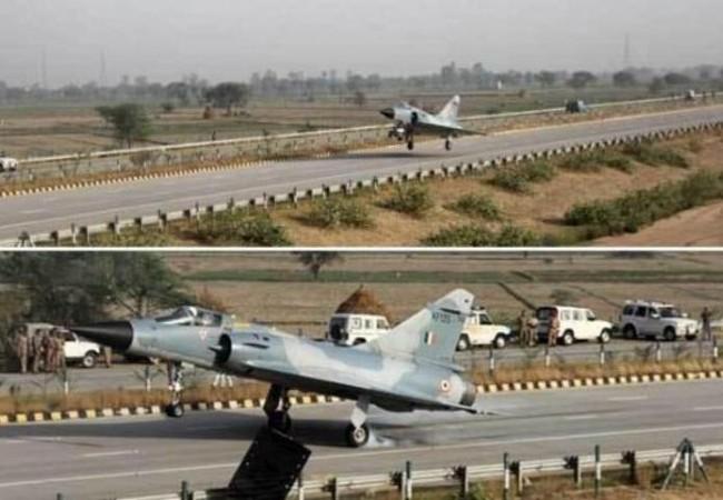 Các máy bay chiến đấu của Không quân Ấn Độ tiến hành diễn tập cất hạ cánh trên đường cao tốc. Ảnh: Cankao