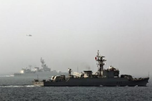 Tàu hộ vệ BNS Abu Bakar Hải quân Bangladesh tham gia một cuộc tập trận đa phương ở ngoài khơi Thanh Đảo, tỉnh Sơn Đông, Trung Quốc vào ngày 23/4/2014. Ảnh: The Diplomat