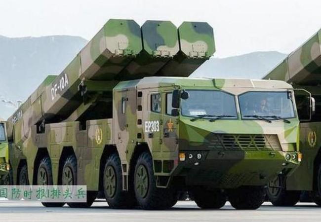 Tên lửa hành trình Đông Phong-10A Trung Quốc. Ảnh: Sina