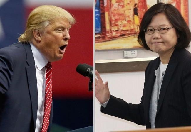 Tổng thống Mỹ Donald Trump và nhà lãnh đạo Đài Loan Thái Anh Văn. Ảnh: China.hket.com