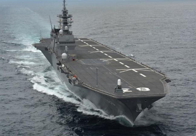 Tàu sân bay trực thăng lớp Izumo của Nhật Bản.