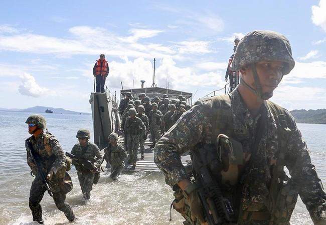 Binh sĩ tham gia cuộc tập trận Balikatan 2017 giữa Mỹ và Philippines