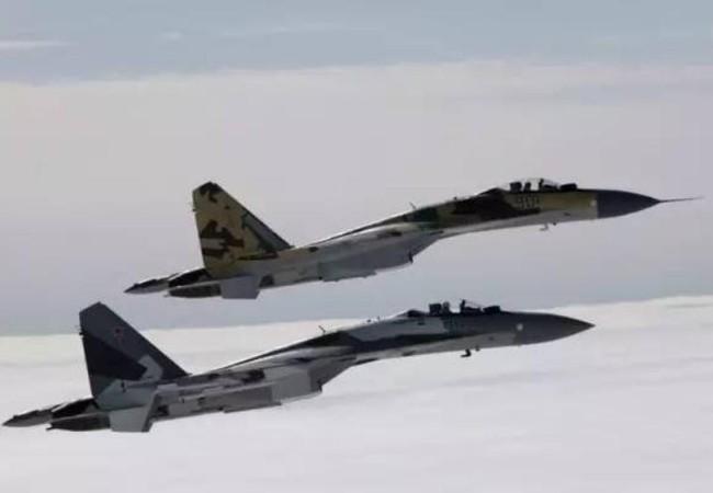 Máy bay chiến đấu Su-35 do Nga chế tạo. Ảnh: Sina.