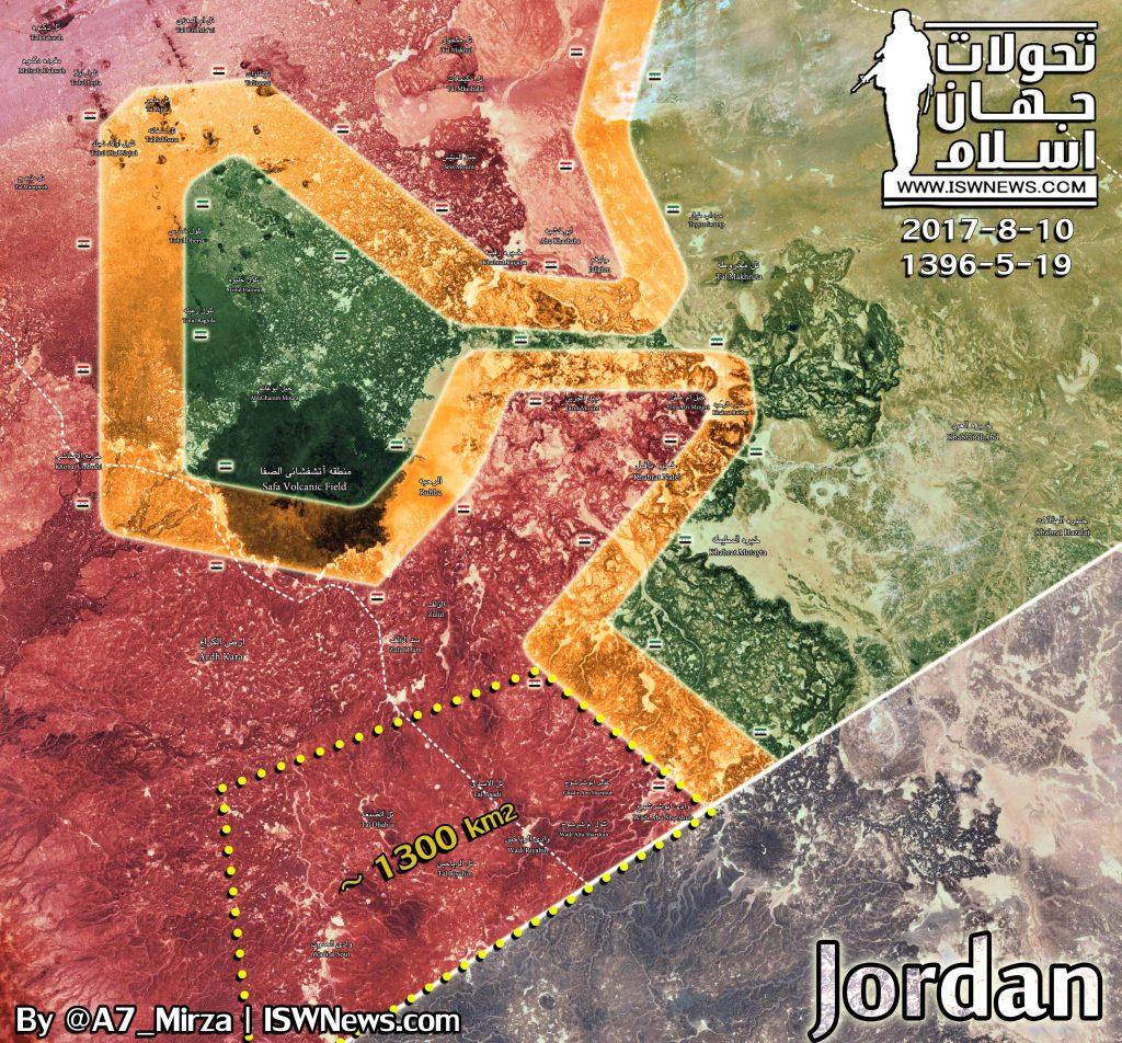 Quân đội Syria giải phóng 30 km chiều dài biên giới với Jordan - ảnh Masdar News
