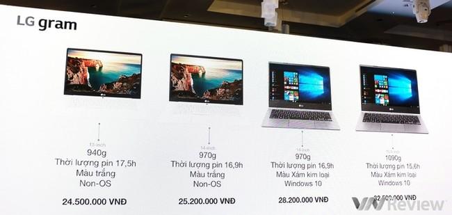 LG chính thức gia nhập thị trường laptop Việt nam với dòng LG gram mỏng nhẹ - ảnh 1