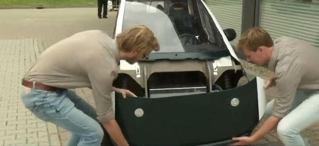 Sinh viên Hà Lan chế tạo xe ô tô điện có thể tự phân hủy sinh học - ảnh 2