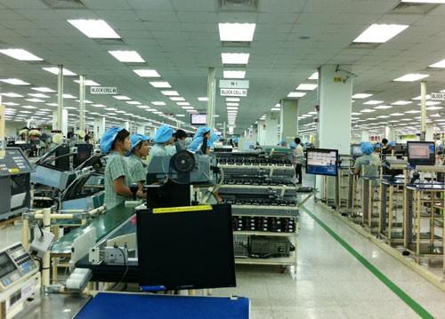 Một dự án của Samsung tại Khu công nghiệp Yên Phong - Bắc Ninh.