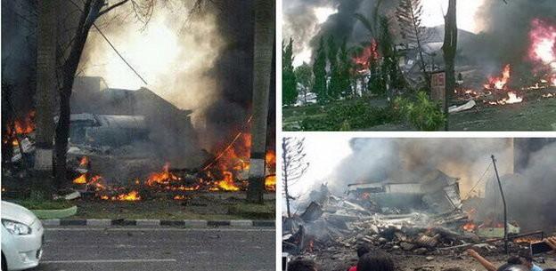 Máy bay Indonesia rơi trúng khách sạn, ít nhất 30 người chết - ảnh 4