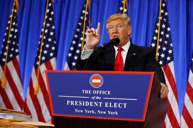 Họp báo lần đầu tiên kể từ khi trúng cử: Donald Trump nặng lời với phóng viên CNN - VIDEO - ảnh 1