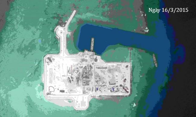 Thực trạng 7 bãi đá Trung Quốc cải tạo ở Trường Sa qua ảnh vệ tinh - ảnh 1