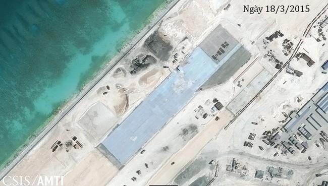 Thực trạng 7 bãi đá Trung Quốc cải tạo ở Trường Sa qua ảnh vệ tinh - ảnh 3