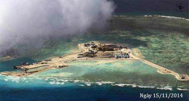 Thực trạng 7 bãi đá Trung Quốc cải tạo ở Trường Sa qua ảnh vệ tinh - ảnh 5
