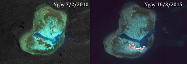 Thực trạng 7 bãi đá Trung Quốc cải tạo ở Trường Sa qua ảnh vệ tinh - ảnh 6