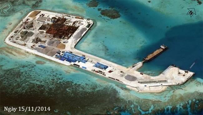 Thực trạng 7 bãi đá Trung Quốc cải tạo ở Trường Sa qua ảnh vệ tinh - ảnh 7