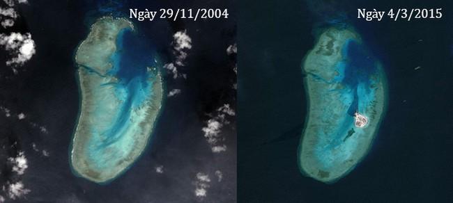 Thực trạng 7 bãi đá Trung Quốc cải tạo ở Trường Sa qua ảnh vệ tinh - ảnh 8