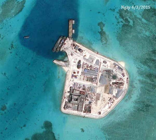 Thực trạng 7 bãi đá Trung Quốc cải tạo ở Trường Sa qua ảnh vệ tinh - ảnh 9