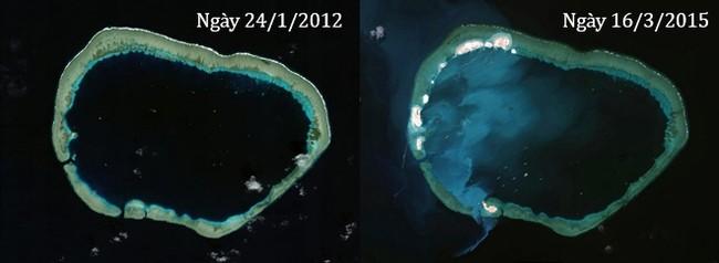 Thực trạng 7 bãi đá Trung Quốc cải tạo ở Trường Sa qua ảnh vệ tinh - ảnh 10