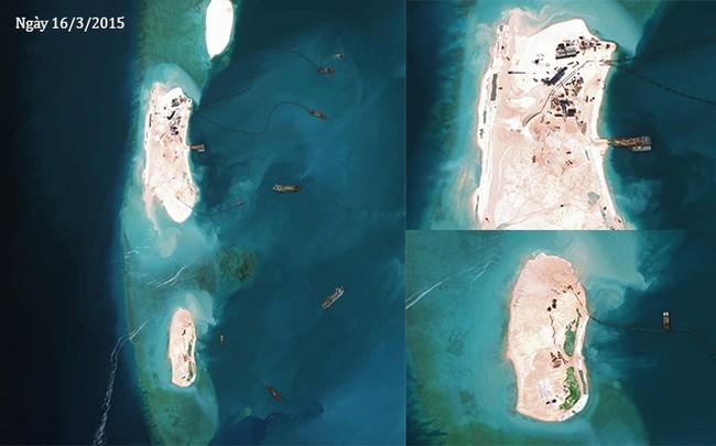 Thực trạng 7 bãi đá Trung Quốc cải tạo ở Trường Sa qua ảnh vệ tinh - ảnh 11