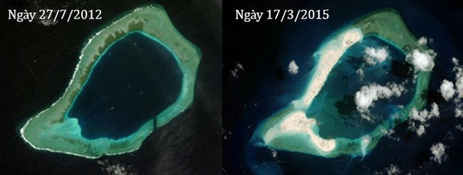 Thực trạng 7 bãi đá Trung Quốc cải tạo ở Trường Sa qua ảnh vệ tinh - ảnh 12